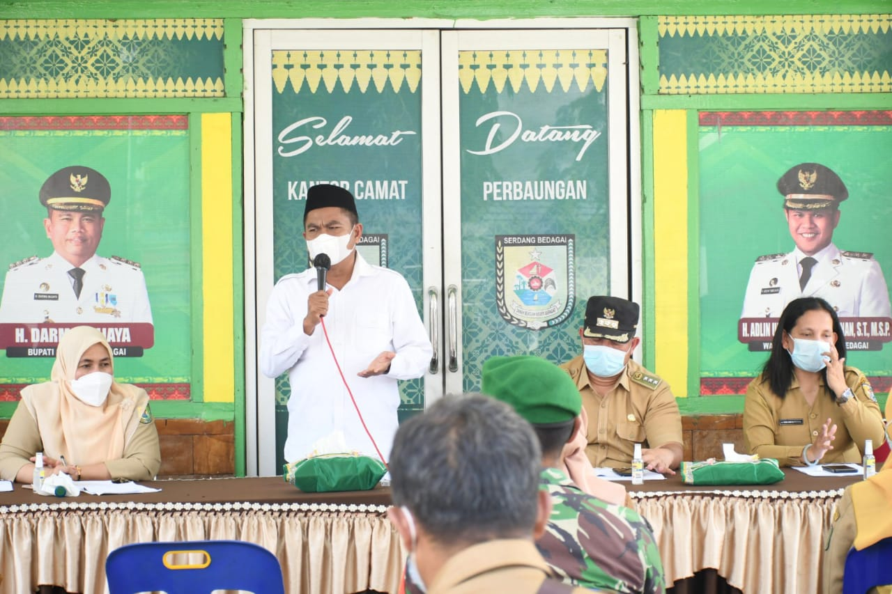 Tangkal Pandemi, Bupati Sergai Gelar Roadshow di Kecamatan