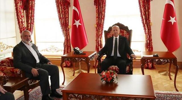اردوغان يلتقي هنية في انقرة