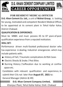 JOBS | D.G Khan Cement Company Limited
