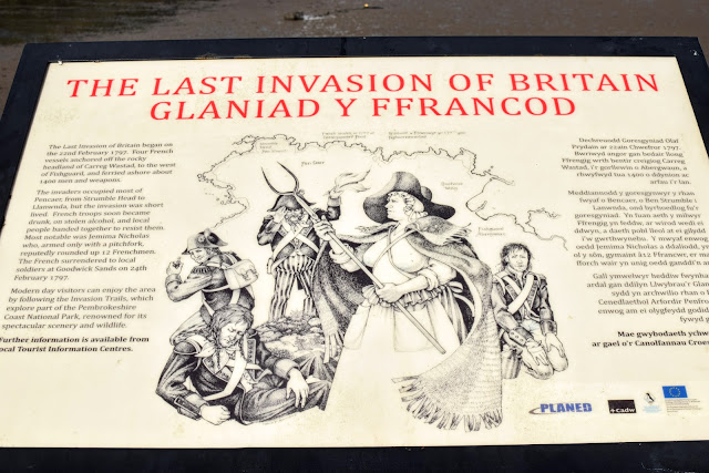 last invasion of Britain, history, sign, Goodwick, Pembrokeshire, Goodwick Parrog, The Parrog, Goodwick Sands Beach, Fishguard, breakwater, coastal town, harbour, village, park, play park, free family day out, day out, fun day out,