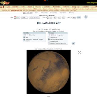 Mars in CalSky.com