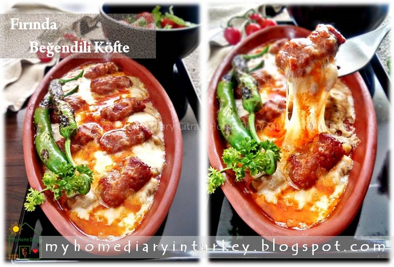 Fırında Beğendili Köfte / Turkish Meatball Kofta with Cheesy Ember-Roasted Aubergine | Çitra's Home Diary