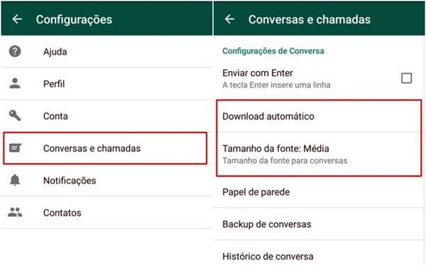 Personalizando o papel de parede e o tamanho da fonte no WhatsApp
