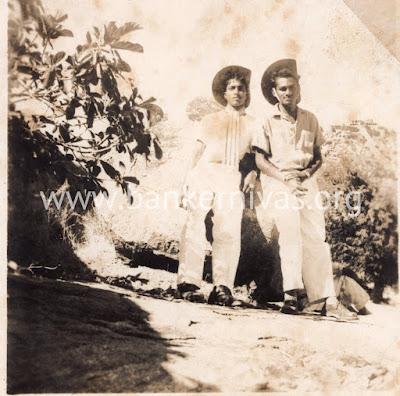 Vintage photo - Indians in cowboy hats