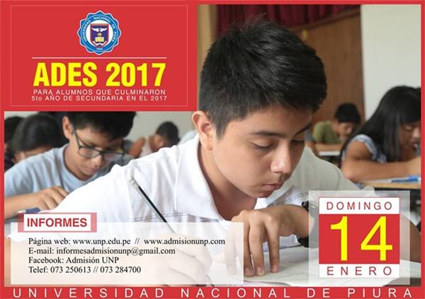 RESULTADOS Examen Admision UNP ADES Piura 2018