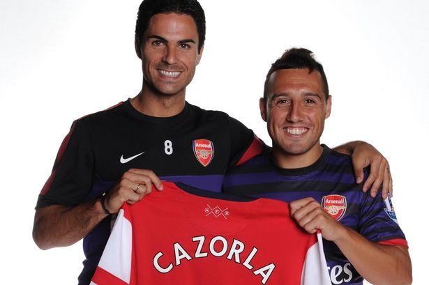 Santi Cazorla calls Mikel Arteta for Arsenal return