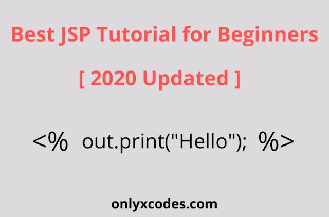 Best JSP Tutorial for Beginners 2020 Updated