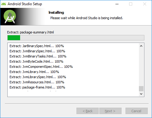 6. android studio installation extraction