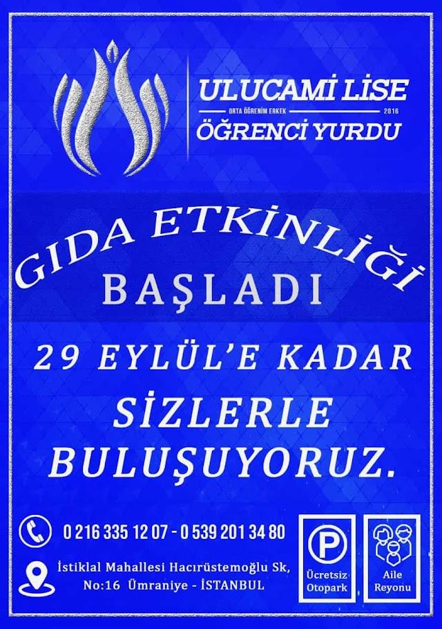 İstanbul Ulucami Lise Gıda Etkinliği