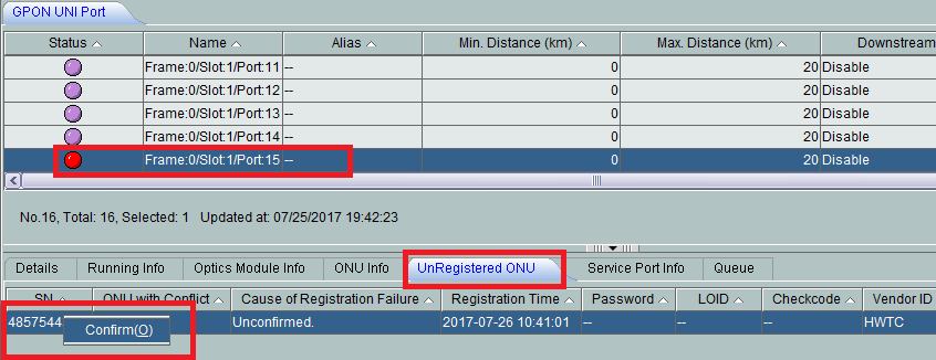 How to configure register Huawei ONT as bridge by U2000