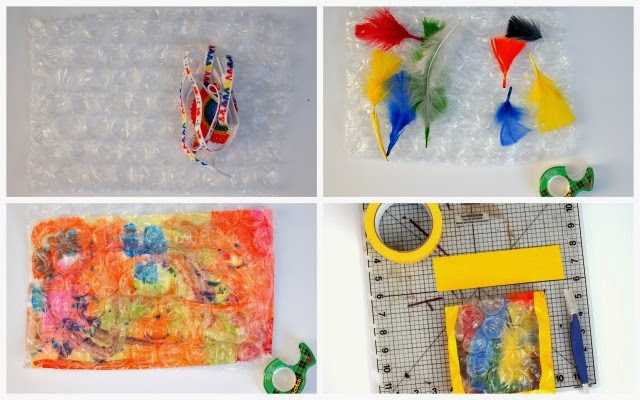 steps to make creative popping wrapping paper
