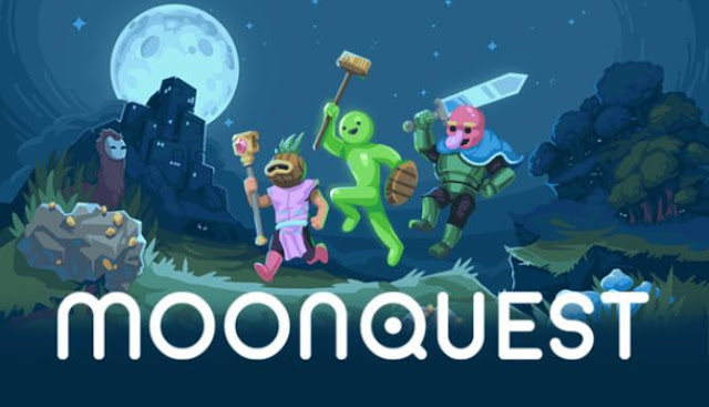 MoonQuest start the lunar car with moon rocks, which are scattered in a randomly created world.