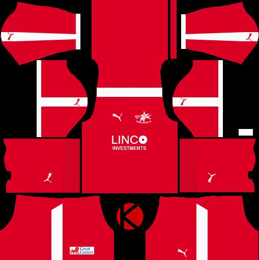 Home United 2017 Puma Kit - Dream League Soccer Kits