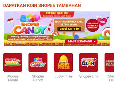 Game Shopee Candy Level 131 Sampai Level 140