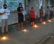 Grupo de amigos realiza ato em frente à antiga Policlinica em Pedreiras.