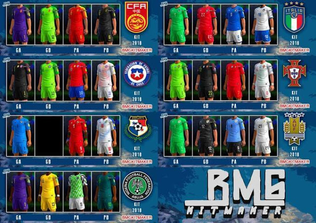 Mini Kitpack National Team 12 April 2018 PES 2013