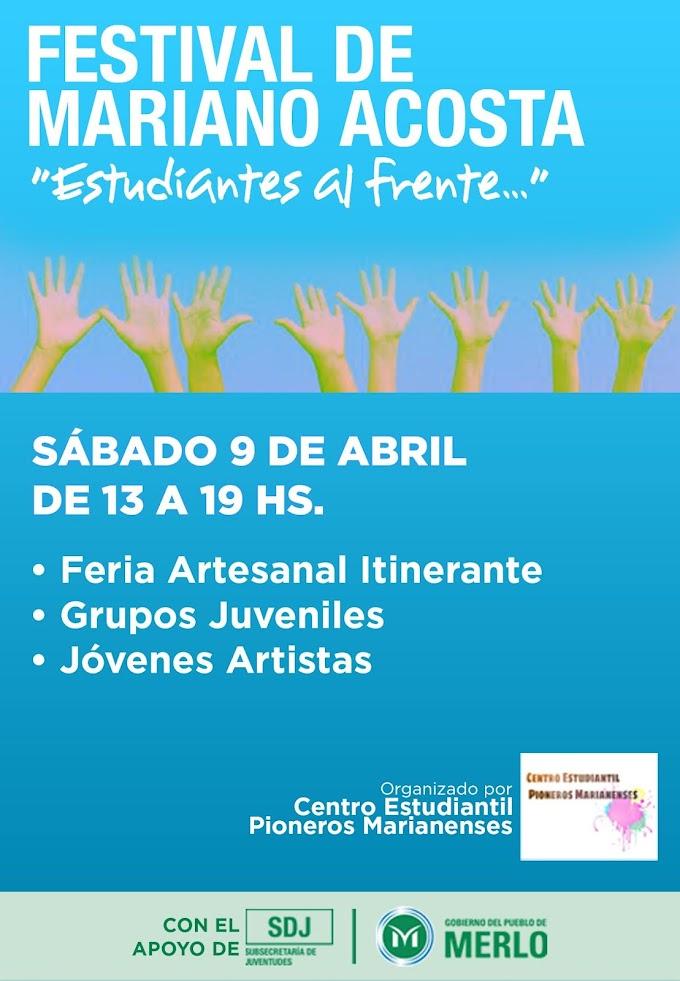 """Volante para el Festival """"Estudiantes al Frente"""""""