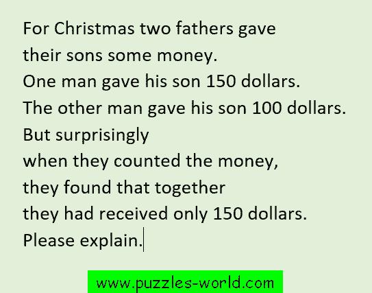 Christmas Money Puzzle