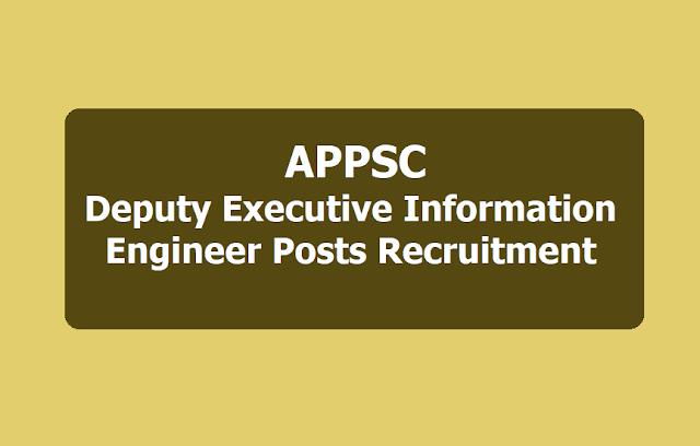 APPSC Deputy Executive Information Engineers