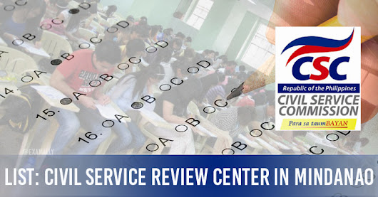 List : Top Civil Service Exam Review Centers in Mindanao ~ Exam Ally