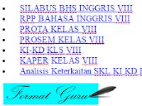 Download RPP, Silabus, Prota, Prosem, KKM, SK KD Kurikulum 2013 Jenjang SMP Bahasa Inggris VIII Lengkap 2016