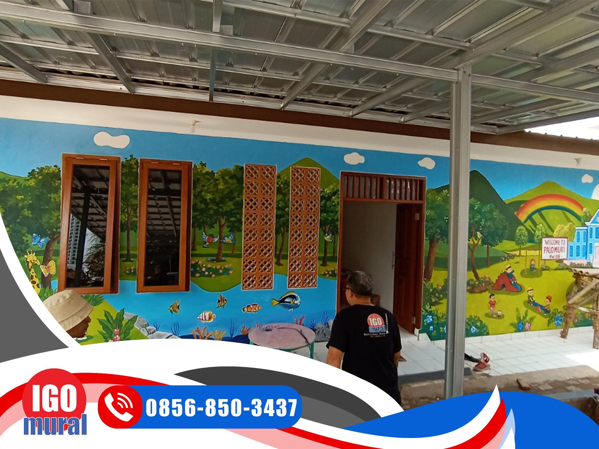 Lukisan Mural Dinding Sekolah