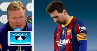 'Messi said he could play. He did his best':  Koeman react to Messi performance in Supercup defeat
