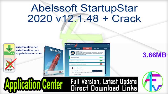 Abelssoft StartupStar 2020 v12.1.48 + Crack