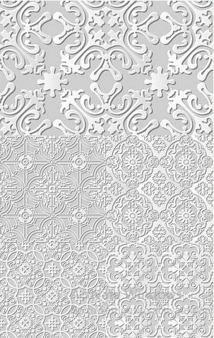 Vector clipart - Damascus seamless 3d paper floral pattern [EPS]