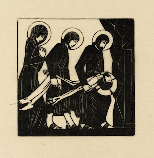 Eric Gill, The Body of Jesus is Laid in the Tomb, 1917, photo (C) Tate