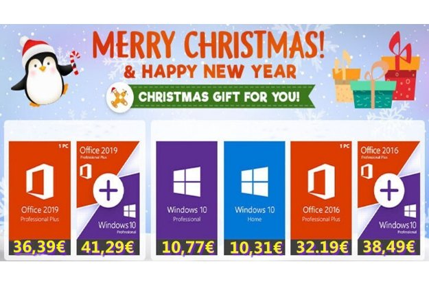 Microsoft Office and Windows 10 Christman offer