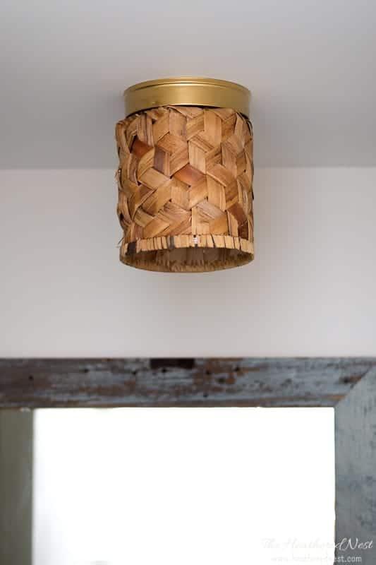 flush mount basket light