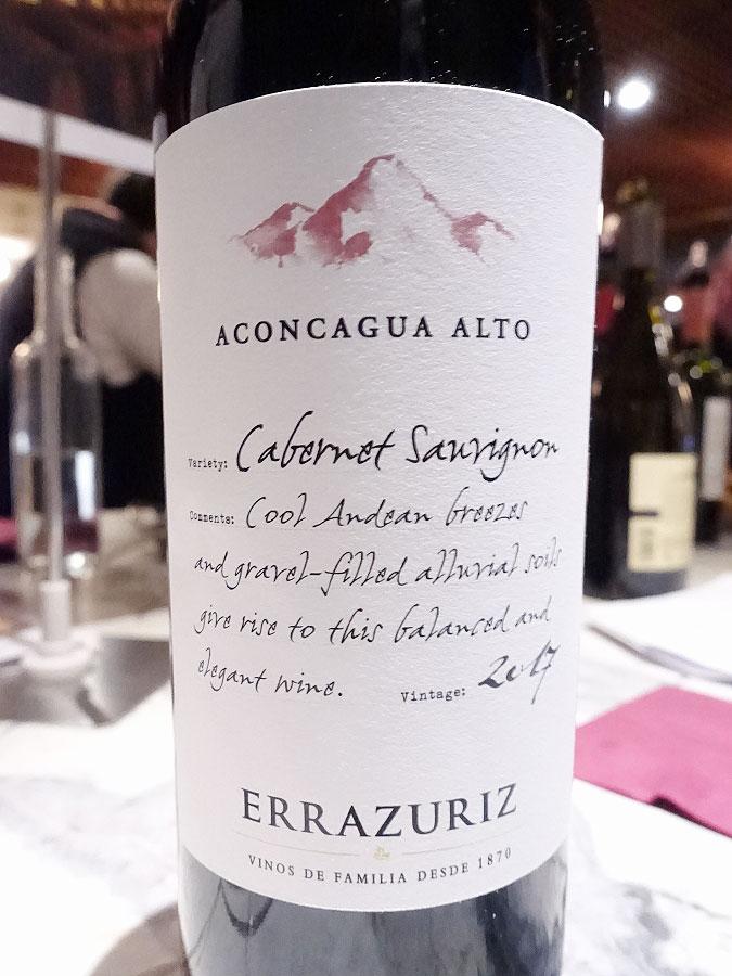 Errazuriz Aconcagua Alto Cabernet Sauvignon 2017 (90 pts)