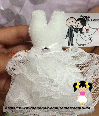 lembrancinha vestido de noiva