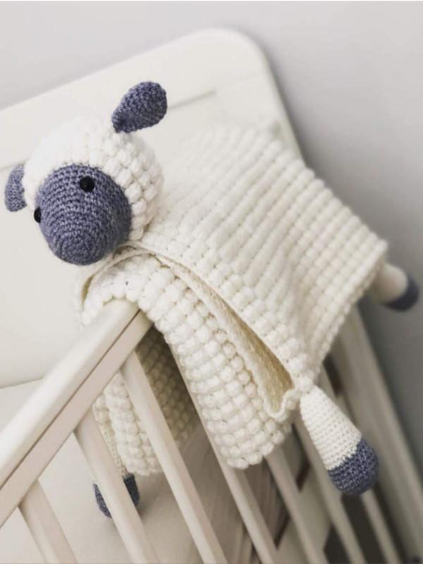 Crochet Pattern 3 In 1 Cuddly Sheep Toy Baby Pram Blanket
