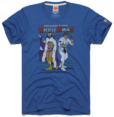 "Road to WrestleMania Week 2 – WrestleMania III ""Macho Man vs The Dragon"" T-Shirt by Homage"