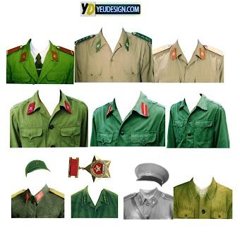 Mẩu áo quân phục ghép ảnh photoshop 05