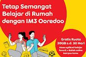 cara mendapatkan kuota gratis im3 ooredoo 30gb gratis indosat