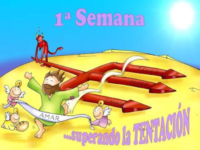 Resultado de imagen de comic para niños tentaciones de jesús