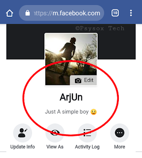 create single name account on Facebook