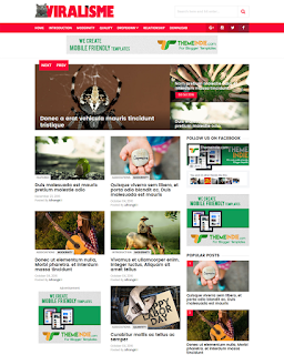 viralisme blogger template responsive high CTR
