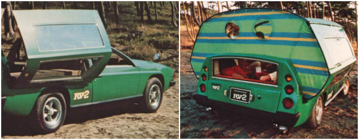 "1972 Toyota RV2: ""Idea"" Car Turns a Station Wagon Into a Recreational Vehicle"