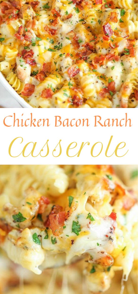 CHICKEN BACON RANCH CASSEROLE #healthy #dinner