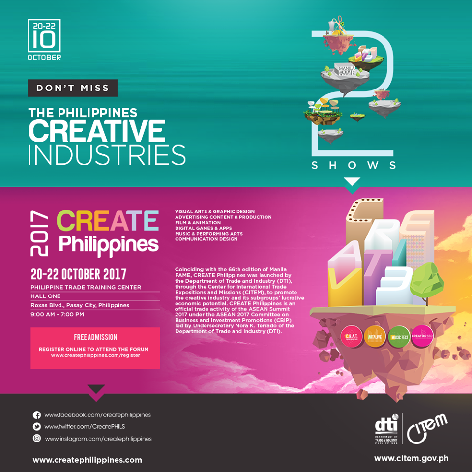 The Intersections & Beyond: DTI launches Create Philippines, a trade