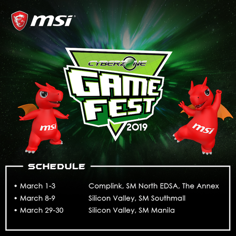 Enjoy MSI gaming peripherals and freebies at SM Cyberzone Game Fest!