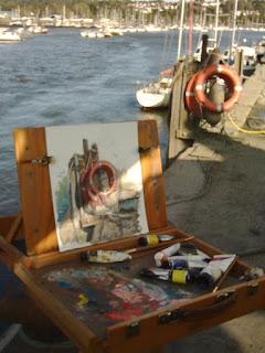 marine still life life buoys art M P Davey