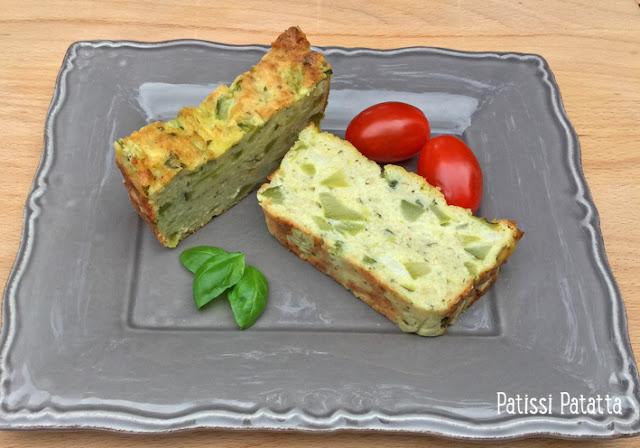 Recette de pain de courgettes, pain de courgettes provençal, courgettes, cuisiner des courgettes, pesto, pistou, basilic, apéritif dînatoire, buffet, légumes,