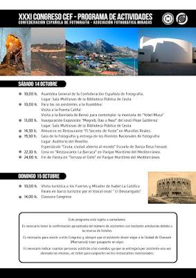 Programa Congreso Nacional de Fotografía de la CEF