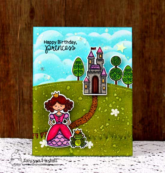 Princess Card by Larissa Heskett | Once Upon a Princess stamp set by Newton's Nook Designs #newtonsnook #princess #handmade