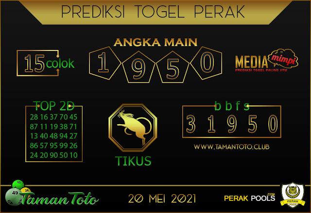 Prediksi Togel PERAK TAMAN TOTO 20 MEI 2021